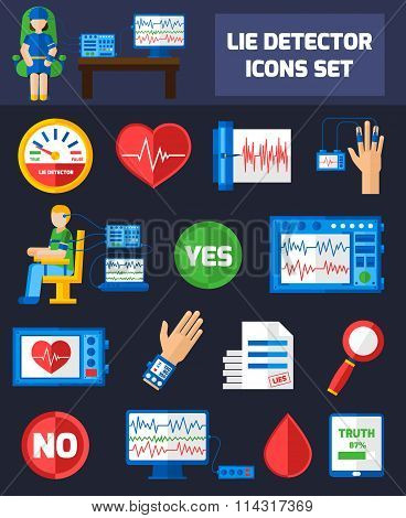 Lie Detector Icons
