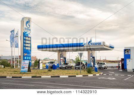 Gas station Gazprom. Belgorod. Russia