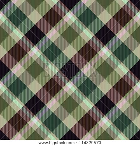 Diagonally checkerboard in brown green colors