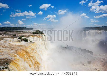Iguassu Falls, On The Border Of Argentina And Brazil