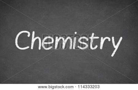 Chemistry lesson on blackboard or chalkboard.