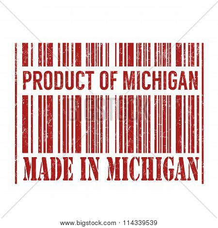 Product Of Michigan, Made In Michigan Barcode