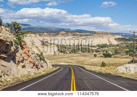 Scenic Byway 12 Near Boulder In Utah
