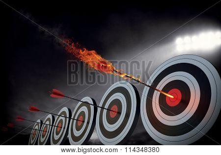 Flaming arrow