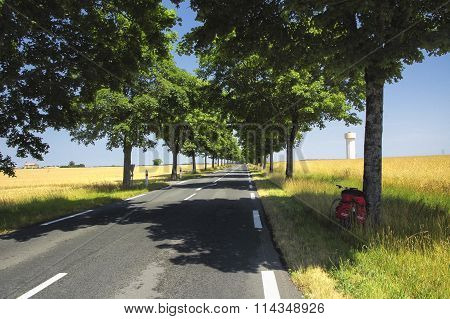 Road And Bicycle In France