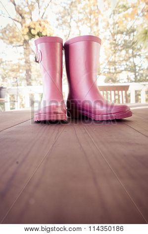 Pink Rain Boots