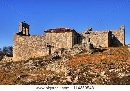 Church ruins in historical village of Castelo Mendo