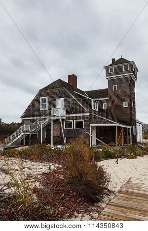 Abandoned Building by Ocean
