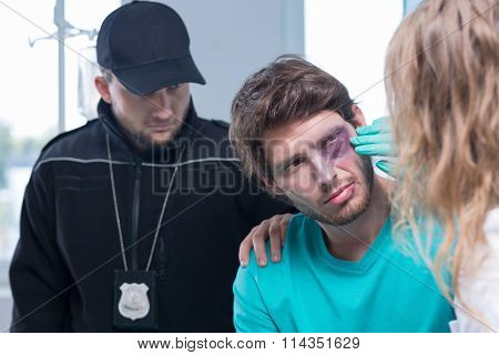 Young Criminal In Hospital