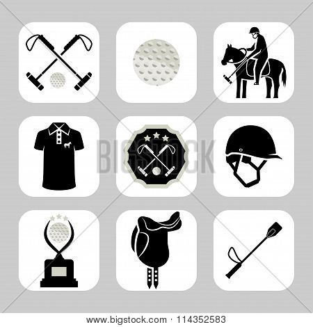 Vector Polo Related Icon Set. Sport Icon