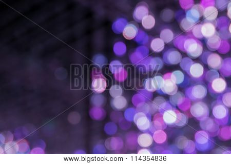 Closeup Of The Abstract  Purple Light Bokeh