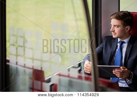 Man Travelling To Work