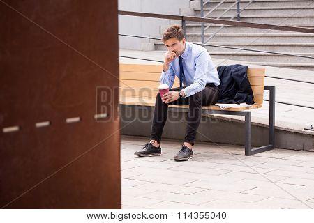 Passenger Waiting For Bus