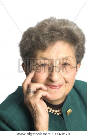happy attractive senior business woman executive smiling successful poster