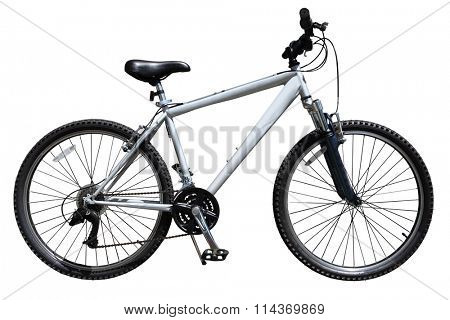 Mountain bicycle bike isolated on white background