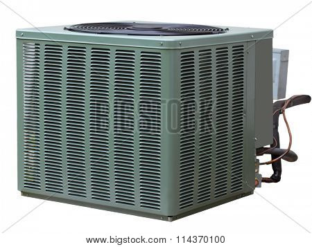 Residential high efficiency central air conditioner outside unit