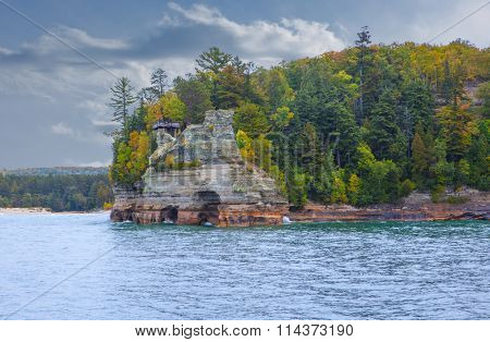 Miner's Castle Pictured Rocks National Lakeshore Pure Michigan Upper Peninsula poster