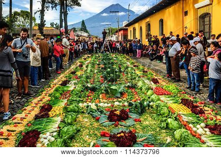 Good Friday Carpet, Antigua, Guatemala