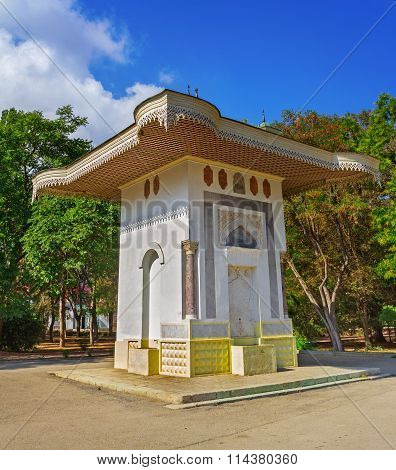 Ancient fountain of the Famous Ukrainian and Russian painter in Feodosia Crimea