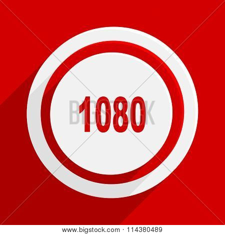 1080 red flat design modern vector icon for web and mobile app