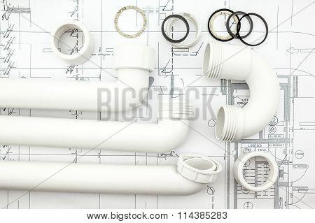 White Siphon On Plan