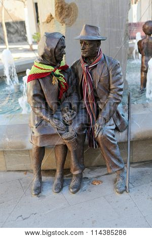 Monument to the elderly pensioners in Lanjaron, Spain