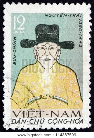 Postage Stamp Vietnam 1962 Nguyen Trai, Vietnamese Confucian Sch