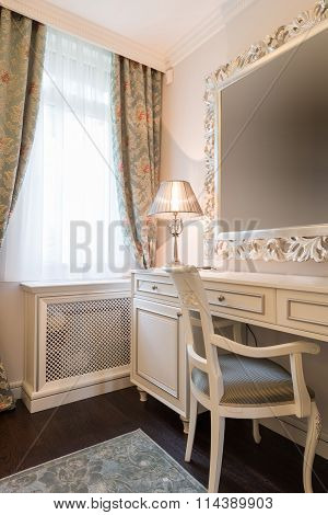 Makeup Table In Bedroom Interior