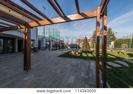 Beautiful terrace lounge