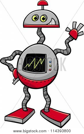 Robot Or Droid Cartoon Illustration