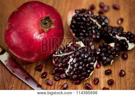 The red pomegranate