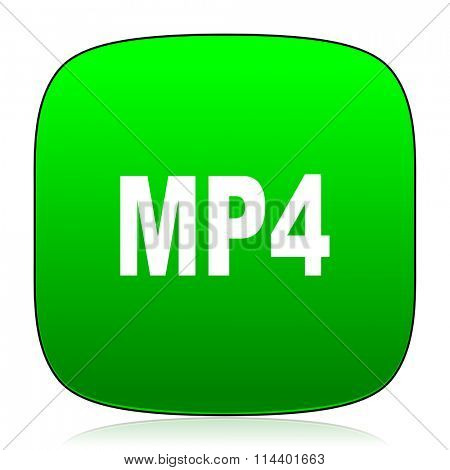 mp4 green icon for web and mobile app