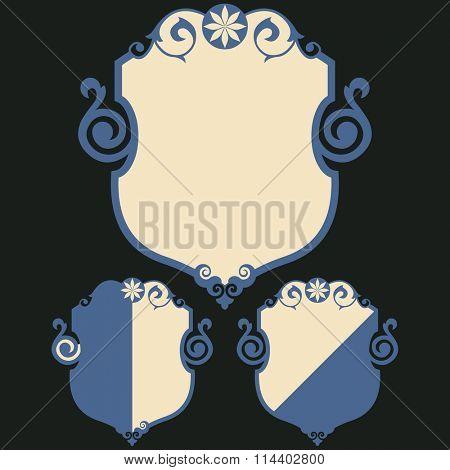 decorative escutcheon, vector design element