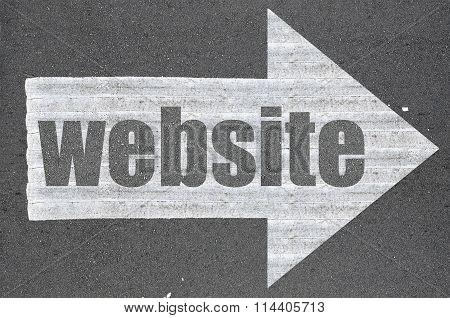 Arrow On Asphalt Road Written Word Website