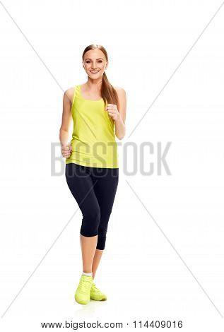 Runner woman full length