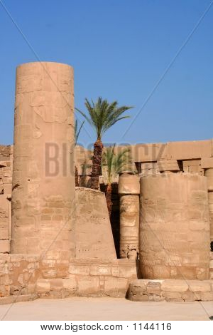 Ancient Karnak Temple In Luxor In Egypt