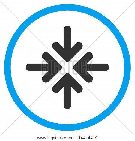 Quadro Collide Arrows Icon