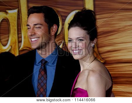 Zachary Levi and Mandy Moore at the World Premiere of