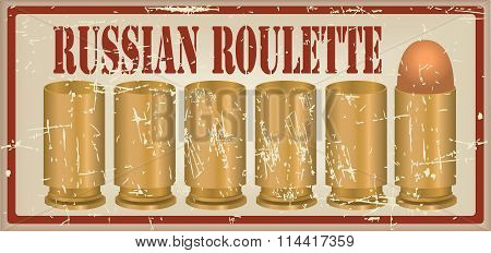Russian Roulette One Fitted Out The Cartridge