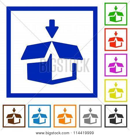 Pack Framed Flat Icons