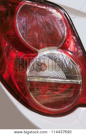 red taillights of the car