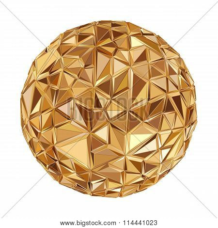 Geometric Disco ball Isolated. Holidays Background