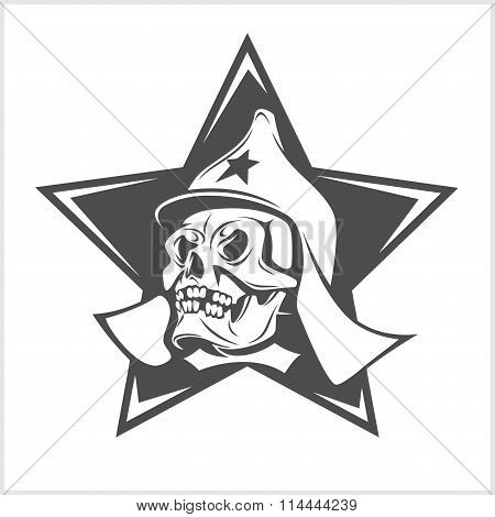 Uni soviet star and USSR skull