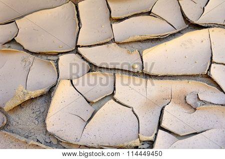 Dry Soil In Desert.
