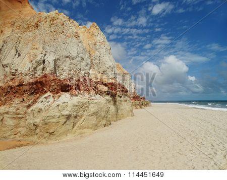 Morro Branco beach in Ceará - Brazil