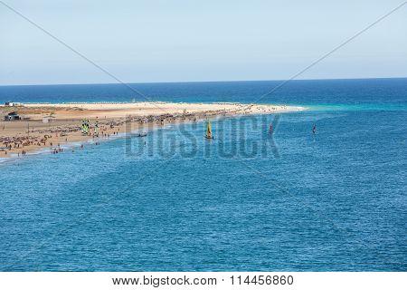 Beach of Morro Jable Canary Island Fuerteventura Spain