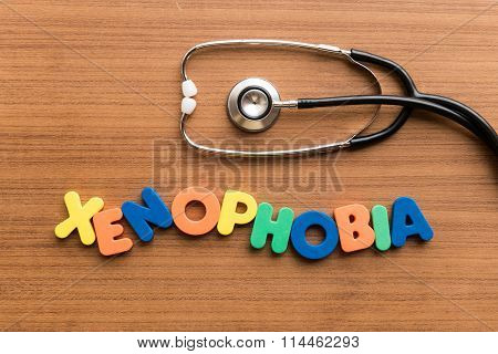 Xenophobia Colorful Word