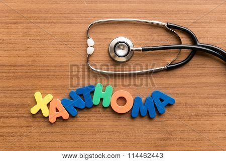 Xanthoma Colorful Word