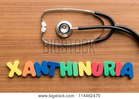 Xanthinuria Colorful Word
