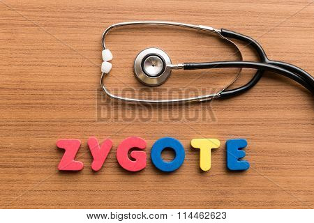 Zygote Colorful Word